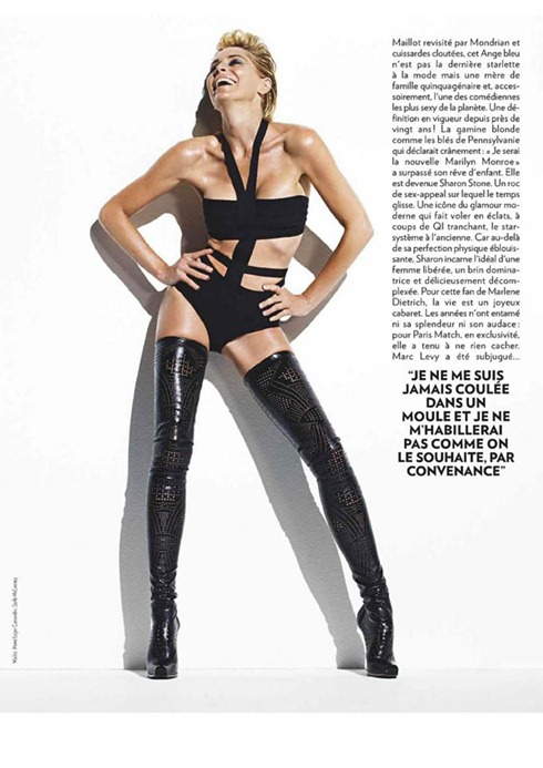 Sharon Stone pentru Paris Match