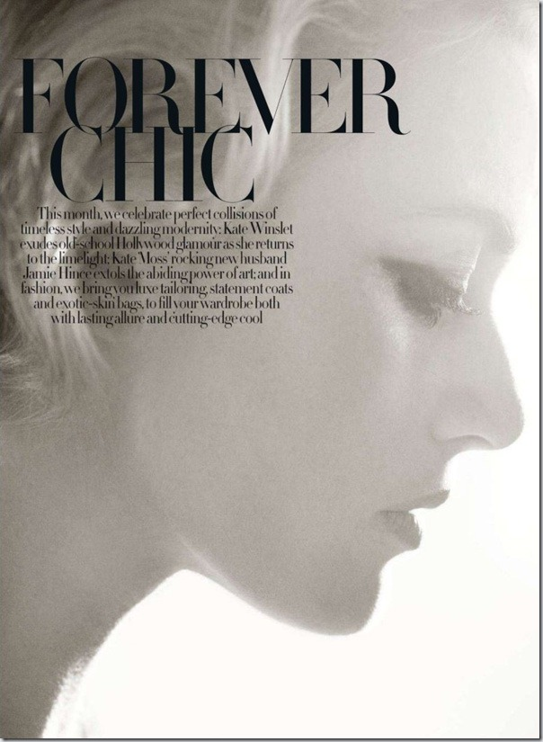 Kate Winslet in Harper's Bazaar UK