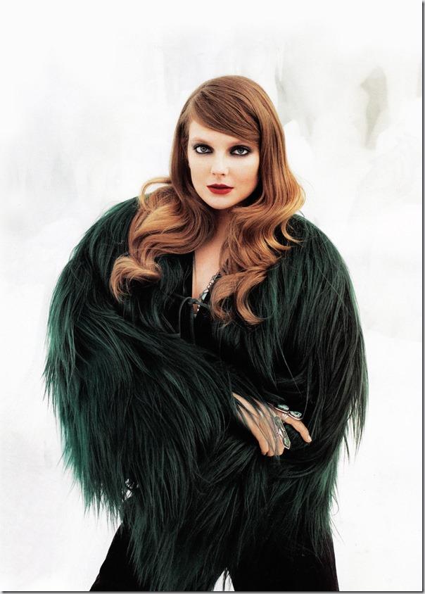 Eniko Mihalik in Harper's Bazaar
