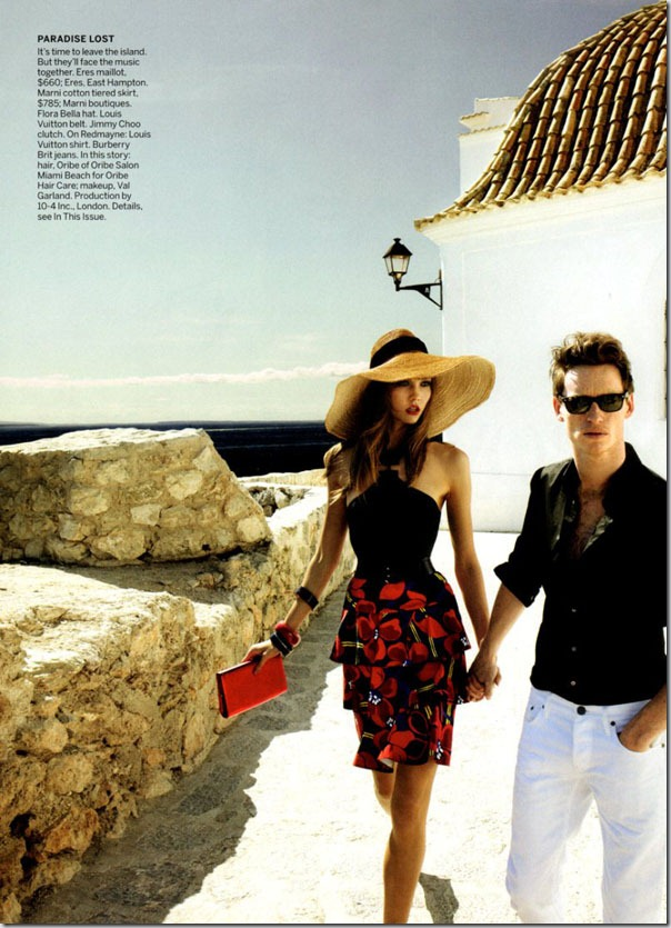 Karlie Kloss si Eddie Redmayne in Vogue US