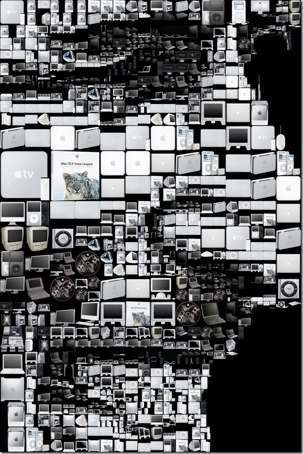 Happy birthday Steve Jobs! (A mosaic portrait for the Los Angeles Times)