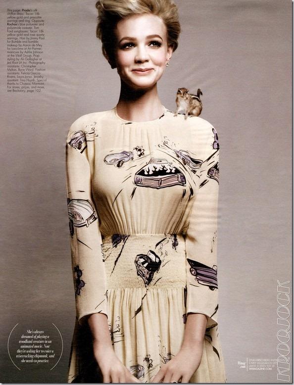 Carey Mulligan pentru W Magazine