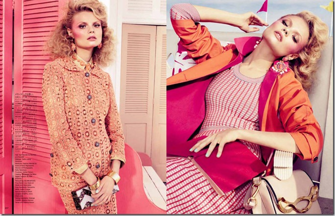Magdalena Frackowiak pentru Vogue Japonia