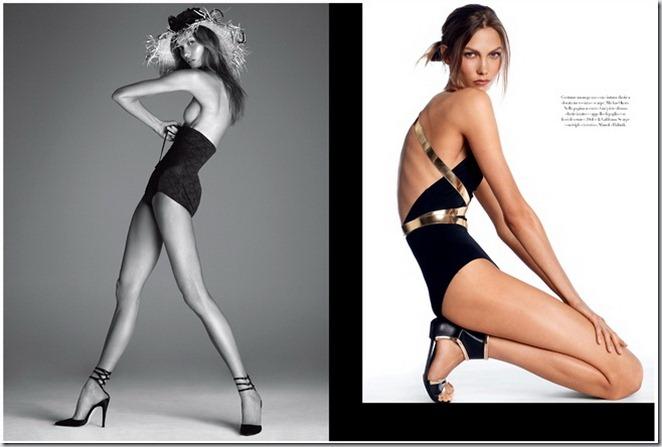 Karlie Kloss in Vogue Italia