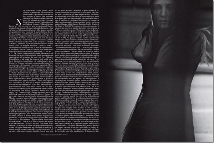 Uma Thurman in Vogue Italia