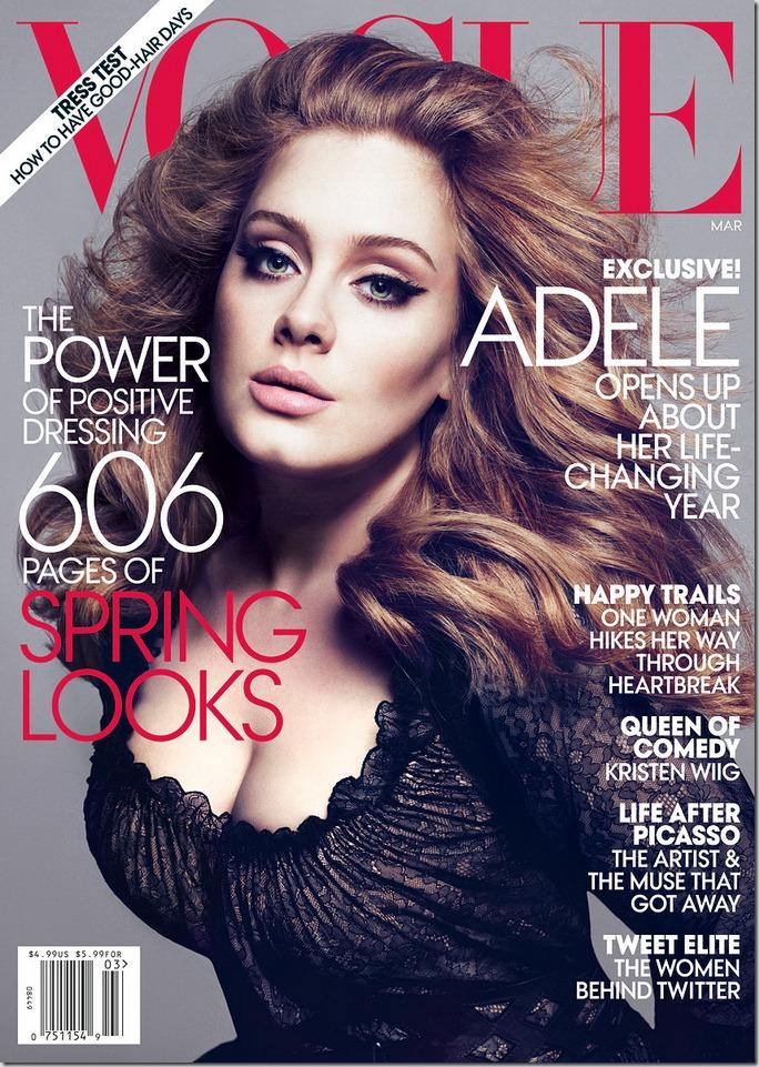 Adele in Vogue (martie 2012)