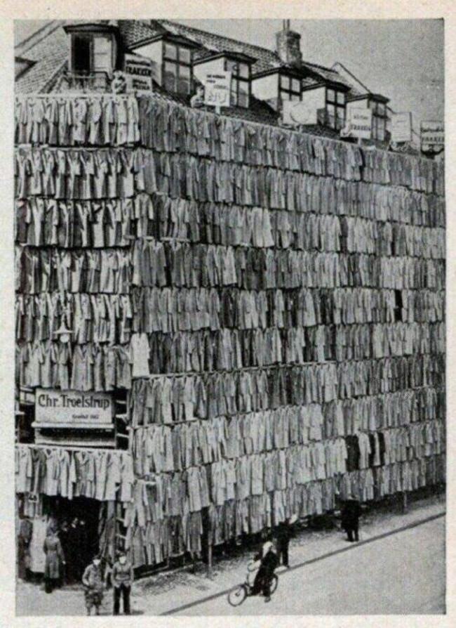 Straturi de vânzare de paltoane grandioase de la Copenhaga din 1936