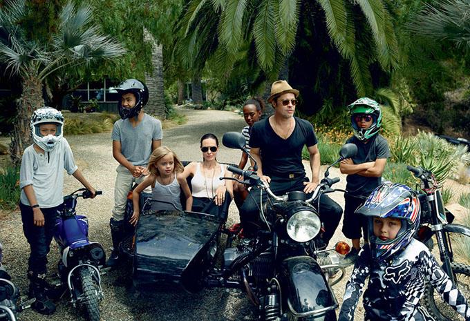 Angelina Jolie si familia ei in Vogue