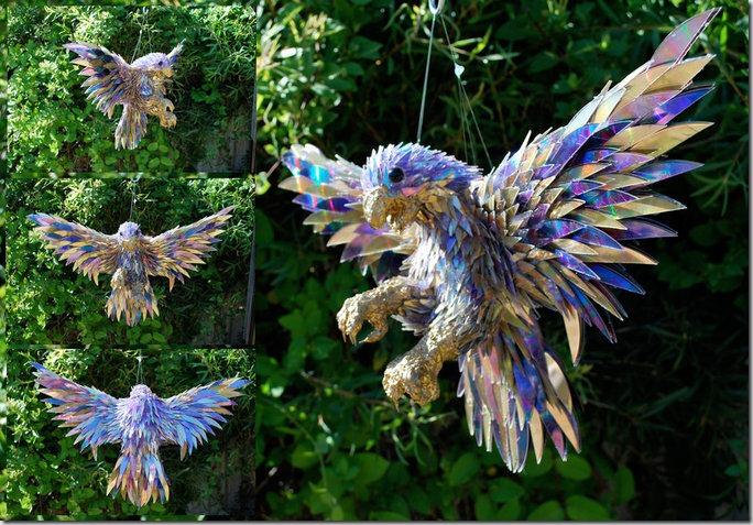 Sculpturi din bucati de CD-uri utilizate de la Sean Avery