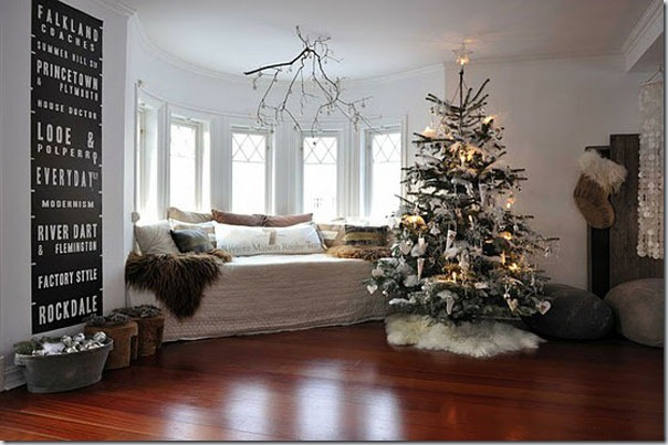 28 exemple de a decora living ul pentru anul nou zifun for Decoration interieur noel
