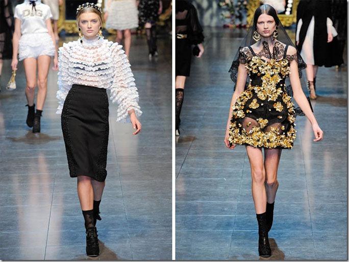 Saptamana de moda la Milano: Dolce & Gabbana toamna 2012