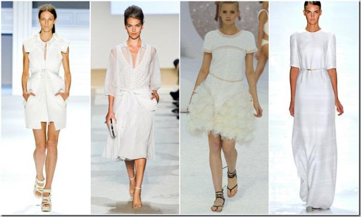 Trendul sezonului primavara/vara 2012: alb total look
