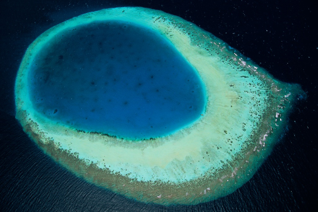 The eye of the Maldives, Atoll of North Mali, Maldives.
