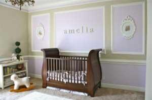 Cele mai noi tendinte pentru camera bebelusului: violet este noul roz