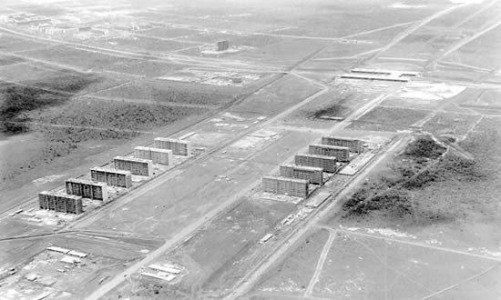 Constructii de Brasilia, care mai târziu a devenit capitala Braziliei. 1960