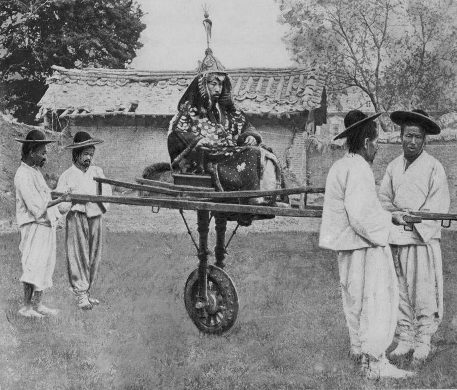 Aristocrat coreeană și portari lui 1900