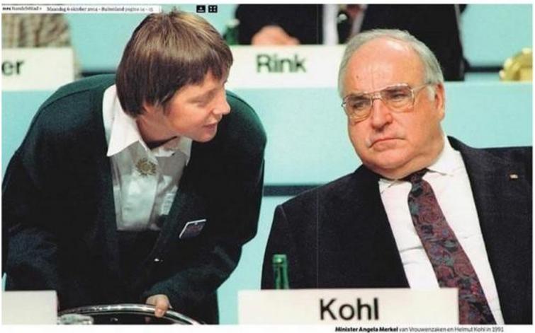 Angela Merkel si Helmut Kohl