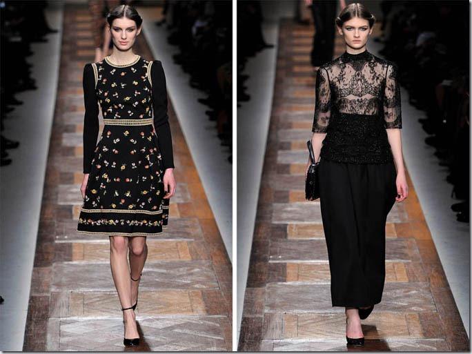 Saptamana modei la Paris: Valentino toamna 2012