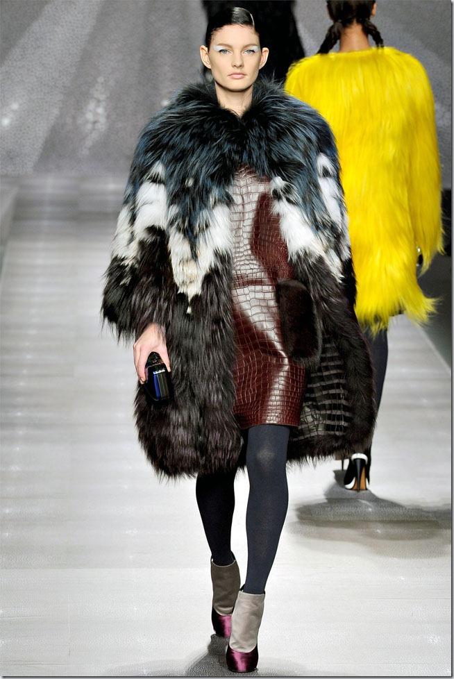 Saptamana de moda la Milano: Fendi(toamna 2012)